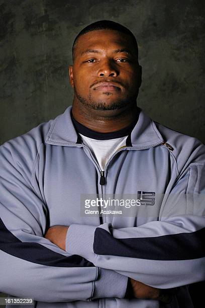 DENVER COLORADO NOVEMBER 27 2006Portrait of Denver Broncos defensive Tackle Michael Myers for Broncos Interview