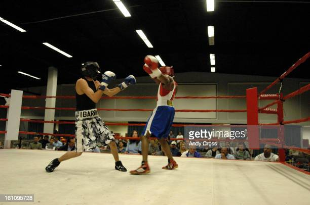 GOLDENGLOVESDENVERCOMARCH 31ST 2007Francisco Ibarra Los Outsiderz left and John Franklin WCAP box in the 112lb A Class match of the Colorado Golden...