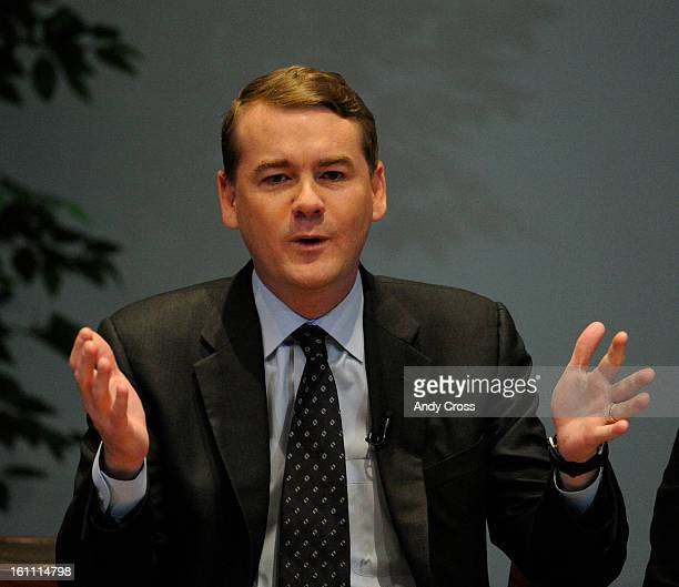 COOCTOBER 17TH 2009Congressman Michael Bennet during the 9News/Denver Post Health Care Forum Your Health Your Congress your Voice began at the...