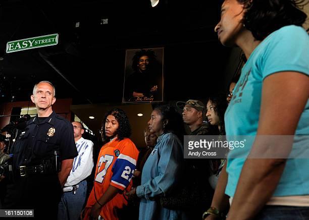 DENVER COJUNE 20TH 2009Denver Police Chief Gerald Whitman left talks to local activist representing INCITE Women of Color Against Violence Lisa...