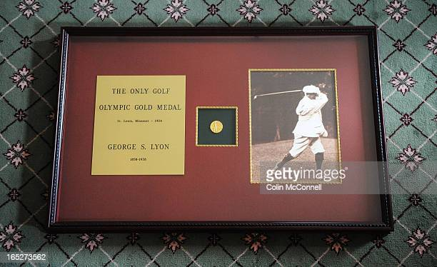 AUG 12TH 2009pics of canadas george lyon won the olympic gold medal for golf the last time the sport was included in the olympics in 1904the medal is...