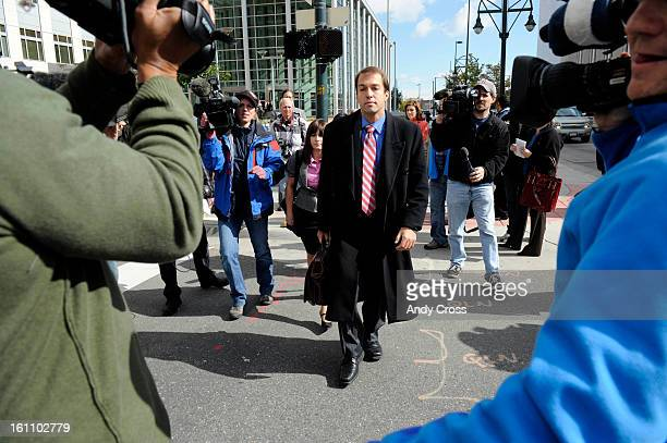 DENVER COSEPTEMBER 24TH 2009Terror suspect Najibullah Zazi's attorney Aurthur Folsom leaves the Alfred A Arrj United States Court House in downtown...