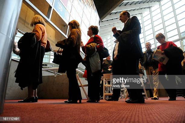 COAPRIL 2ND 2009Theatre goers gather for shows at the Helen Bonfils Theatre Complex at the Denver Center for the Performing Arts Thursday evening THE...