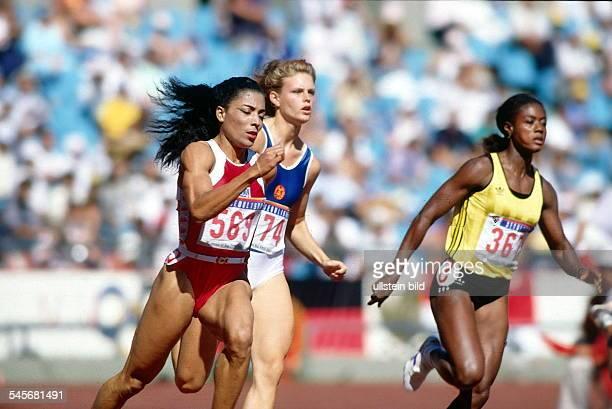 FlorenceGriffith Katrin Krabbe Merlene Ottey September 1988