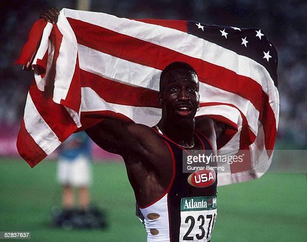 LEICHTATHLETIK 200m Maenner ATLANTA 1996 am 1896 Michael JOHNSON USA lief Weltrekord/GOLD Medaille