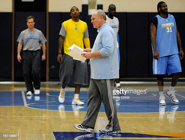 DENVER COFEBRUARY 17TH 2010Denver Nuggets head coach George Karl during practice at Pepsi Center Wednesday morning Karl announced Tuesday that he has...