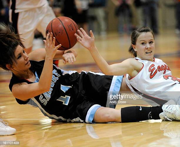 PUEBLO COMARCH 12TH 2010Jessica Altman right Paonia battles for possession of the ball against Kayla Harr Sangre de Cristo during the 2A girls Final...