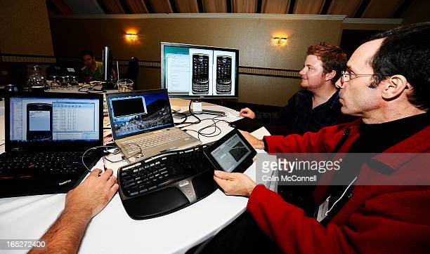 OCT 6TH 2011pics of instructor peter hanson in red shows ryan burbidge how to develop code for the blackberry smart phones and playbooksRIM developer...