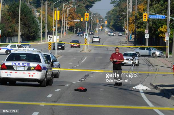 OCT 9TH 2011pics of Scene where Siu investigators are attending on Mclaughlan rd at eglinton in mississauga where a pedestrian is critical in...