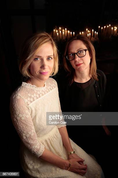 YORKAPRIL 8 2014Actress Kristen Wiig left and director Liza Johnson right worked together on the new film 'Hateship Loveship' The movie is an...