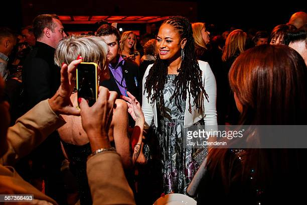 SPRINGS CA JANUARY 2 2015Director Ava DuVernay is surrounded by fans at the afterparty for the movie Selma at the Palm Springs Art Museum on opening...