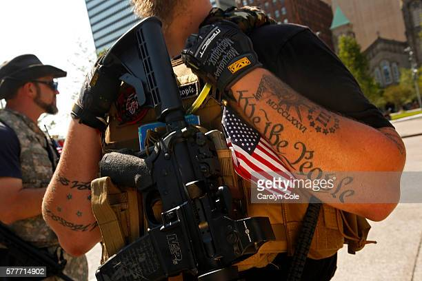On Tuesday the second day of the Republican National Convention Ohio Minutemen gather in downtown Cleveland to express their feeling on the 2nd...