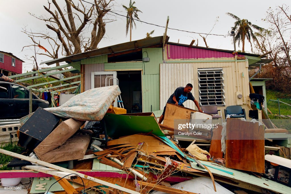 RICO--SEPT. 27, 2017--Jose Gonzalez has taken everything out of his home in Estancia Del Sol, outside of Rio Grande, after the hurricane destroyed it. Many people in the area have not received any aid one week after the hurricane Maria. The roof of their home is gone and they have very little to eat.