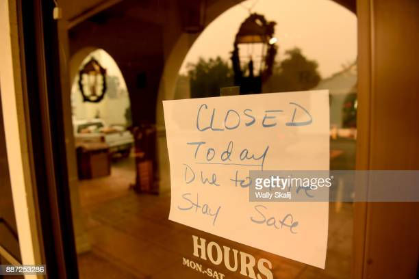 Most buisness store owners closed there store as the Thomas Fire approaches in Ojai California on December 6 2017