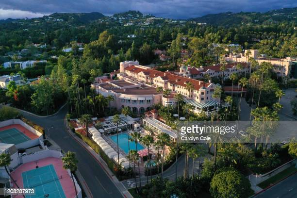 2020The Beverly Hills Hotel on March 23 in the time of the coronavirus. Los Angeles from above during the time of the coronavirus.