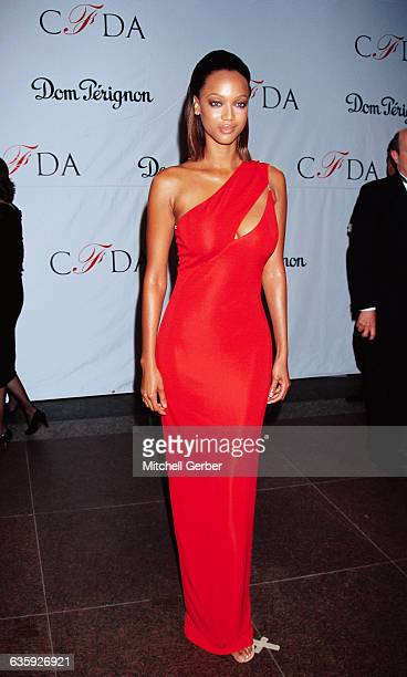 Tyra Banks at the Council of Fashion Designers of America Awards at the JP Morgan Atrium and 55 Wall Street