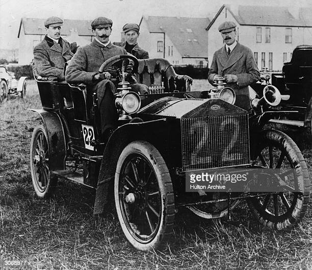 A 1905 20horsepower Rolls Royce the runnerup in a 1905 TT race Seated in the back seat is Charles Stewart Rolls who cofounded the company with Henry...