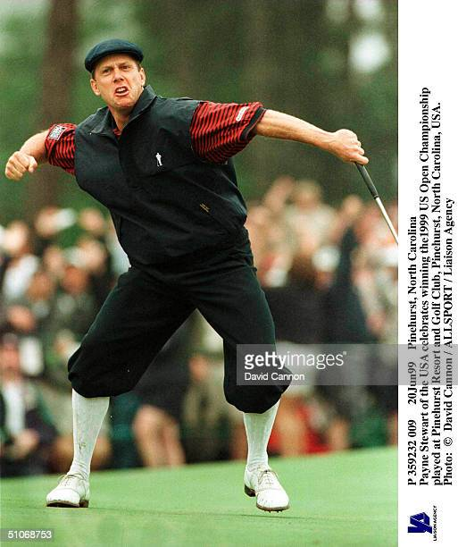 P 359232 009 20Jun99 Pinehurst North Carolina Payne Stewart Of The Usa Celebrates Winning The1999 Us Open Championship Played At Pinehurst Resort And...