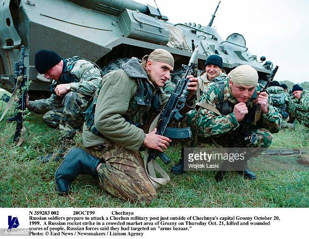 N 359283 002 20Oct99 Chechnya Russian Soldiers Prepare To Attack A Chechen Military Post Just Outside Of Chechnya's Capital Grozny October 20 1999 A...