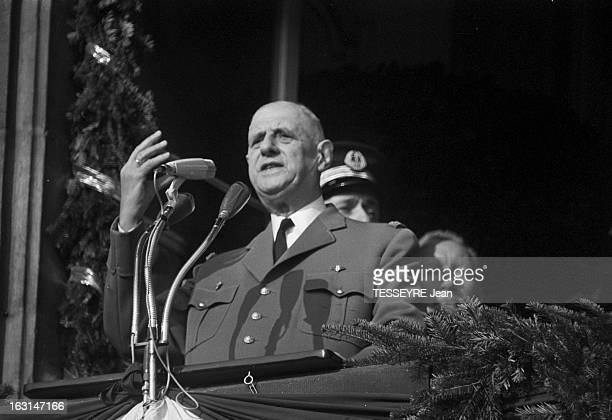 20Th Anniversary Of The Liberation Of Strasbourg Le 23 novembre 1964 à Strasbourg à l'occasion d'une cérémonie organisée pour le 20ème anniversaire...