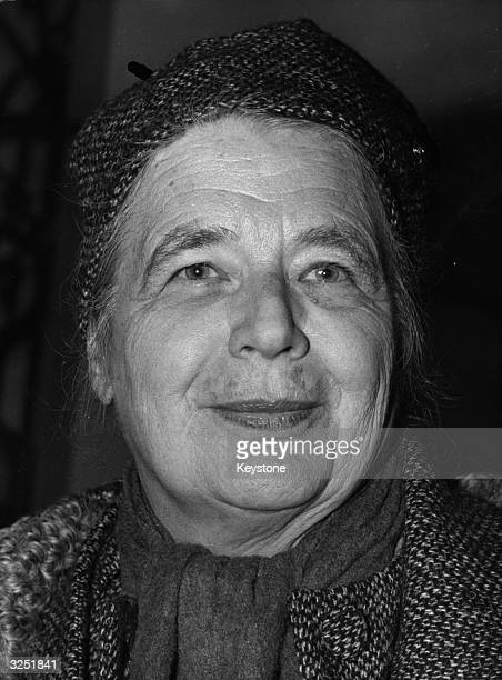 Writer Marguerite Yourcenar who has just won the prestigious Prince Pierre Of Monaco literary award This is given in recognition of an author's...