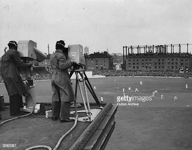 An outside broadcast of cricket from The Oval.