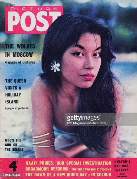 French actress and psychologist France Nuyen  is featured for the cover of Picture Post magazine Original Publication Picture Post Cover Vol 68 No 08...