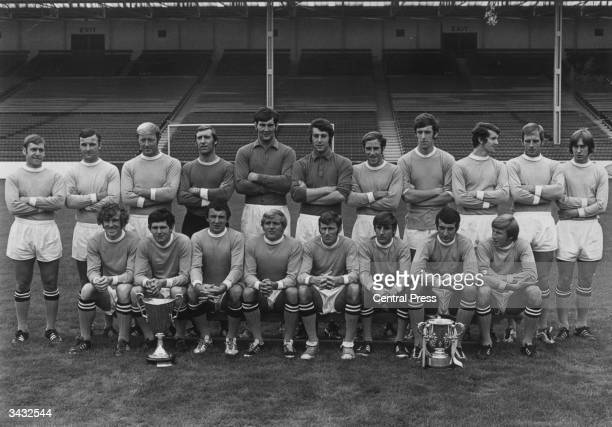 Manchester City Football Club, the winners of the League Cup and the European Cup Winners Cup, , back row, D Connor, Glyn Pardoe, George Heslop,...