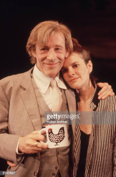 Peter O'Toole and Frances Tomelty who are playing Macbeth and Lady Macbeth in a production of Shakespeare's play at the Old Vic in London