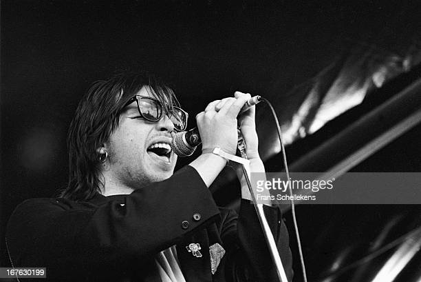 20th AUGUST: American musician Jeffrey Lee Pierce performs at Waterpop in Wateringen, the Netherlands on 20th August 1988.