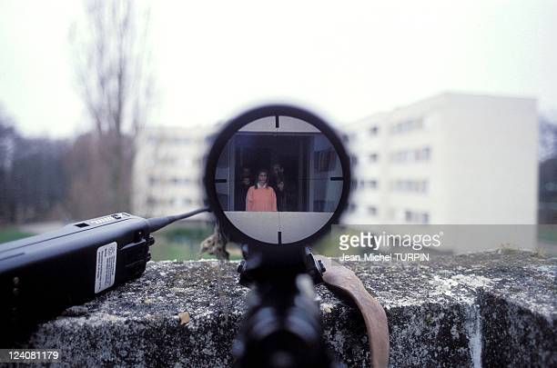 20th Birthday of the National Gendarmerie Intervention Group In France On May 27 1994 Sight picture of an expert marksman on a hostagetaking