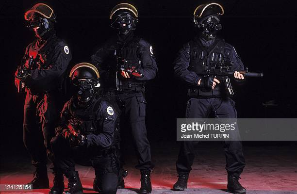 20th Birthday of the National Gendarmerie Intervention Group In France On May 27 1994 In an intervention gear equipped with night aiming device