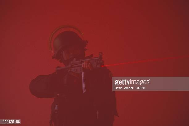 20th Birthday of the National Gendarmerie Intervention Group In France On May 27 1994 HK rifle equipped with laser aiming