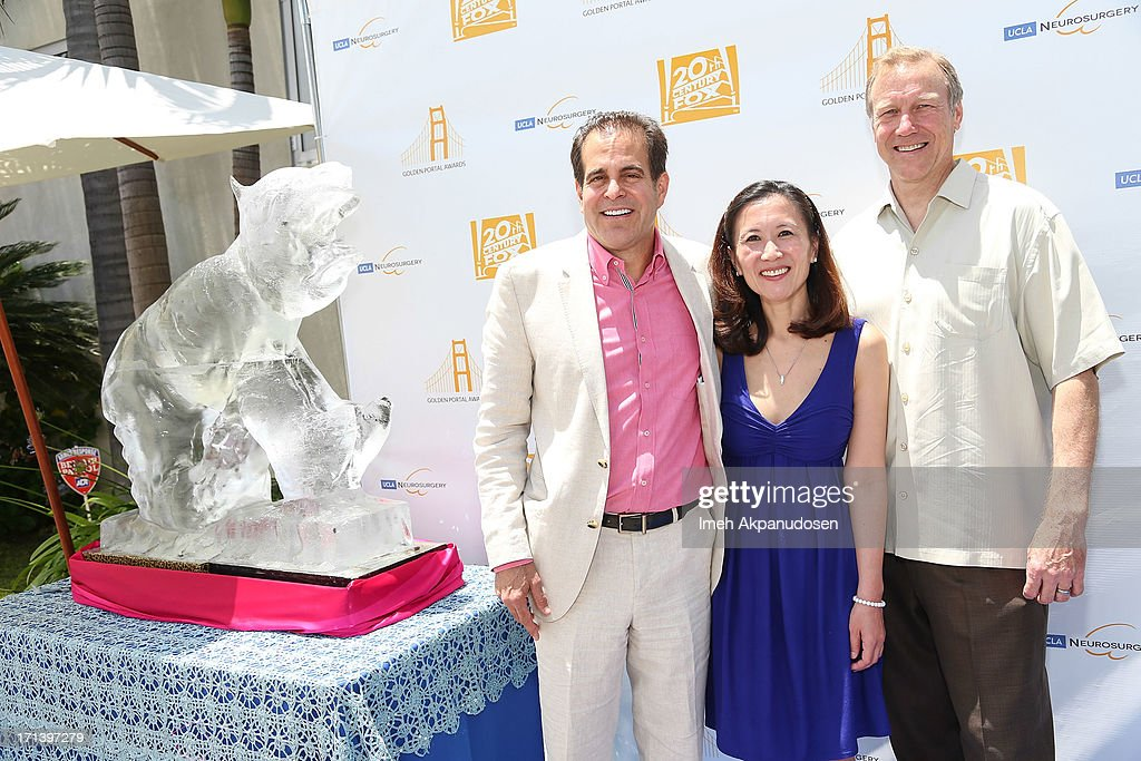 20th Century Fox Feature Post-Production President Ted Gagliano, Dr. Linda Liau, and Dr. Neil Martin attend the 2nd annual Golden Portal Awards benefiting The UCLA Brain Tumor Program on June 23, 2013 in Beverly Hills, California.