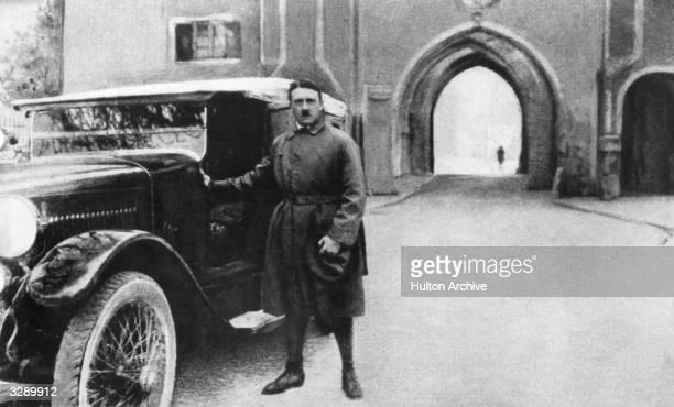 Adolf Hitler leaves the Landsberg Fortress after a nine month period of imprisonment