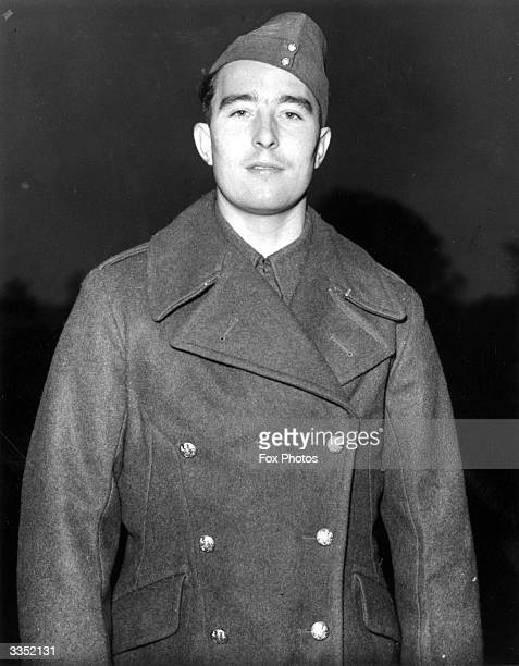 Denis Compton England cricketer and Arsenal footballer is now a gunner in the army