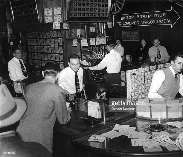 One of many gaming tables at Harold's Club the largest gambling club in Reno Nevada operated by female croupiers