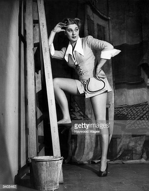 Actress Hy Hazell appears in a performance of 'Jack and Jill' at the Casino in London Original Publication Picture Post 6240 Girls Will Be Boys pub...