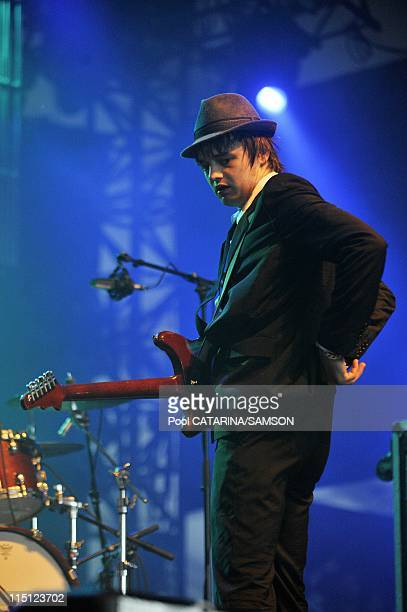 20th Eurockeennes de Belfort Music Festival British band Babyshambles performing live in Belfort France on July 06 2008 Pete Doherty