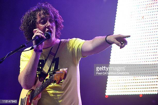 20th Eurockeennes de Belfort Music Festival British band The Wombats performing live on June 2002