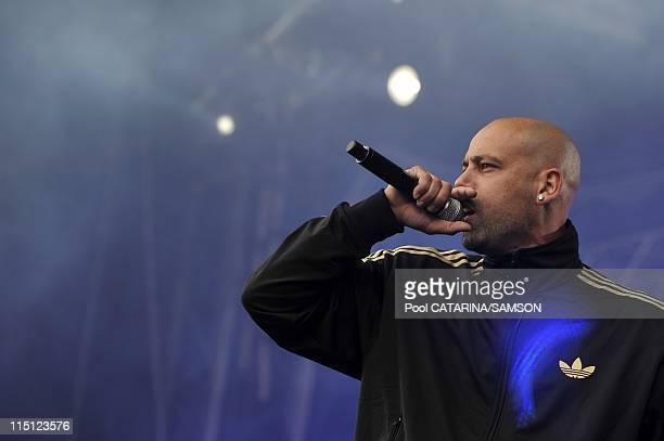 20th Eurockeennes de Belfort Music Festival: French rap singer Sinik performing live in Belfort, France on July 06, 2008.