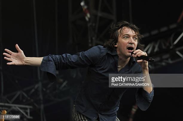 20th Eurockeennes de Belfort Music Festival French singer Cali performing live in Belfort France on July 06 2008