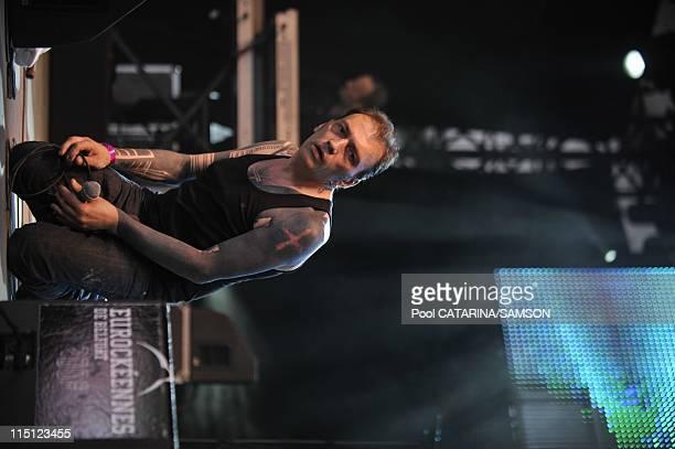 20th Eurockeennes de Belfort Music Festival French singer Daniel Darc performing live in Belfort France on July 05 2008