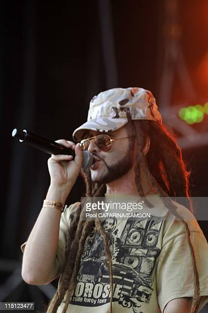 20th Eurockeennes de Belfort Music Festival Italian Reggae singer Alborosie performing live in Belfort France on July 05 2008