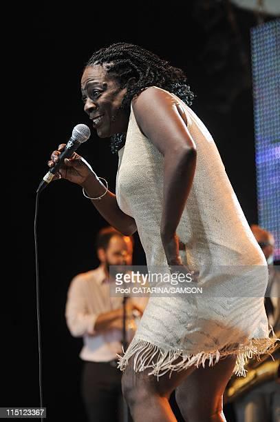 20th Eurockeennes de Belfort Music Festival: United States singer Sharon Jones performing live in Belfort, France on July 05, 2008.