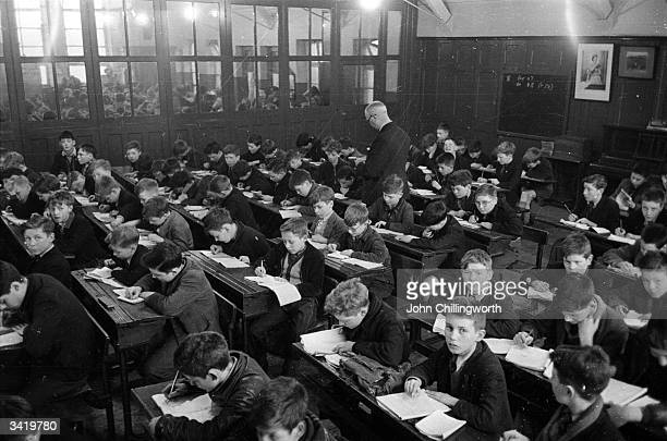 A crowded classroom where 248 children are taught at once in a Belfast school Original Publication Picture Post 7029 The Best And The Worst Of Some...