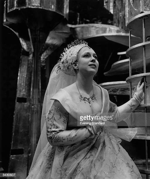 English opera singer, Elizabeth Harwood, during a production of the Rossini opera Count Orly at Sadler's Wells Theatre.