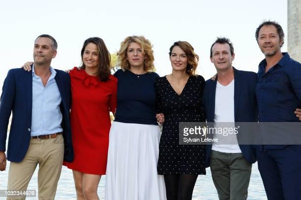 20th festival of TV fiction of La Rochelle jury JeanBenoit Gillig president Marie Gillain Baya Kasmi Audrey Ismael Christophe Lamotte and Bruno...