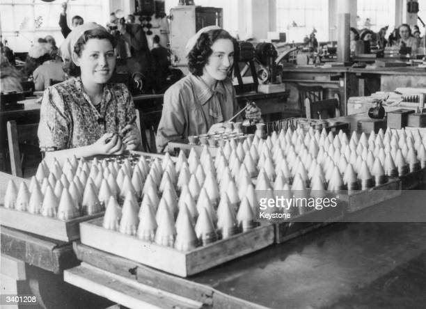 Women factory workers during World War II