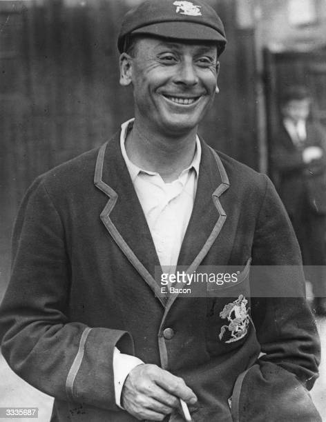 Cricketer Sir John Berry Hobbs smiling after achieving 2000 runs in a season Hobbs was one of England's greatest batsmen and the first English...